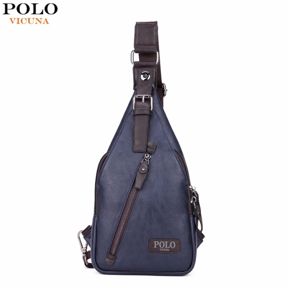 1891197d822d VICUNA POLO Famous Brand Theftproof Magnetic Button Open Leather Mens Chest  Bags Fashion Travel Crossbody Bag Man Messenger Bag Totes Bags Leather Totes  ...
