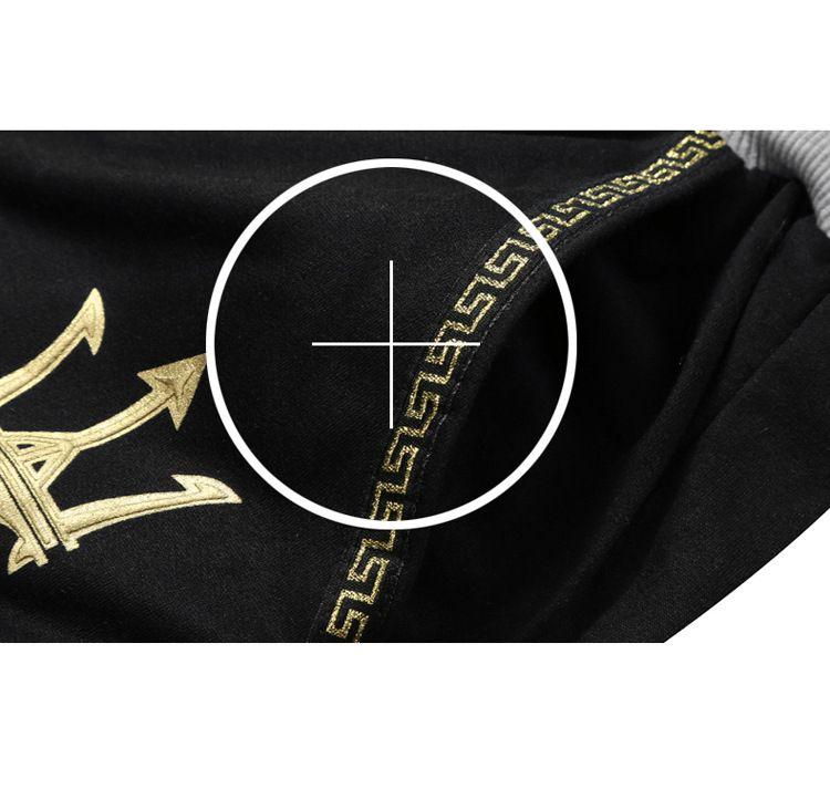 2018 neue Sommer Sport Anzug Männer Casual Set Trainingsanzug Print Stehkragen Kurzarm Shorts Polo Shirt 2 stücke Plus Größe