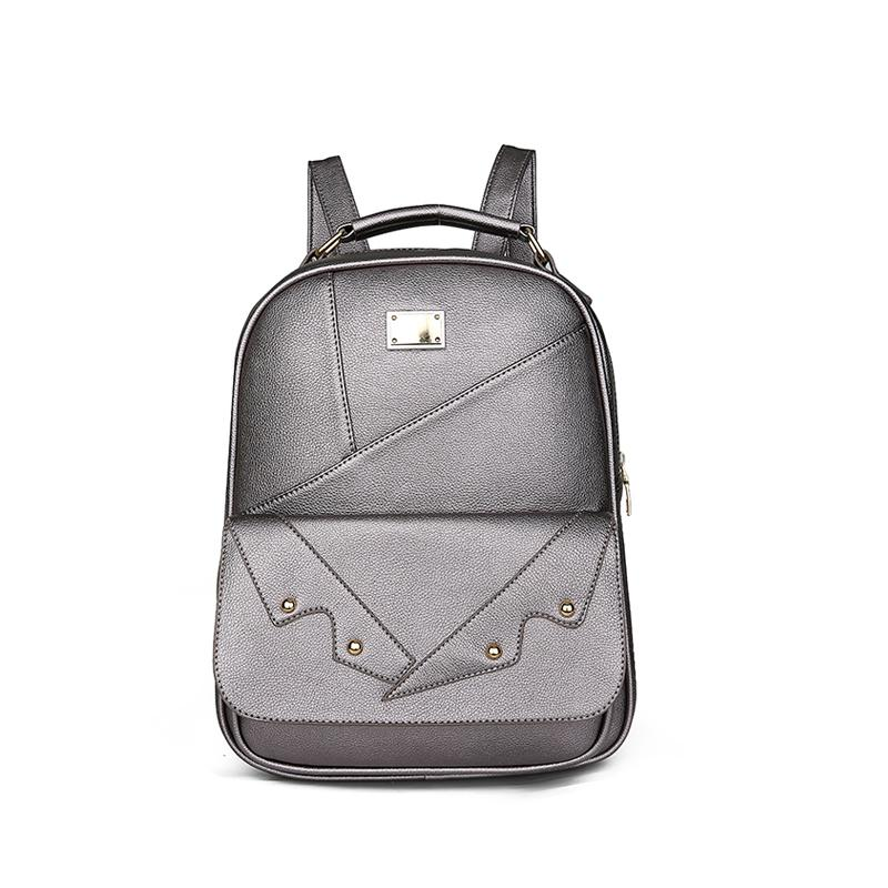 0f4b226ba4d Leather Backpack Fashion Ladies Rivet Stitching Mini Backpacks Luxury  Design Casual Shopping Party Shoulder Bags Cool Backpacks Travel Backpack  From Potatoo ...