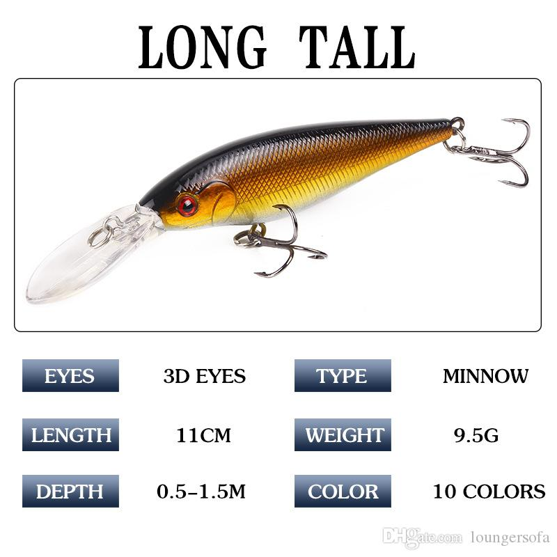 11cm Long Lures Baits Colorful Streamline Shape Fake Pesca Tackle The Fishes Favor Fishing Equipment Many Colors 2 2xy ZZ