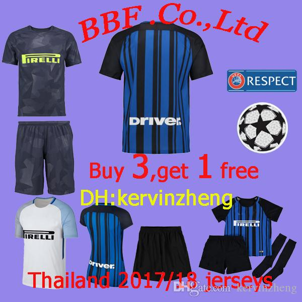 4f9201b1dbf Top Thai Quality 17 18 Inter Home Soccer Jersey 2017 2018 JOVETIC ...