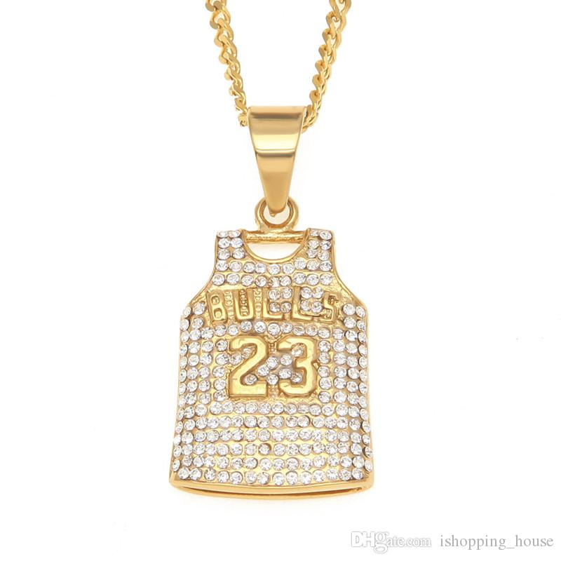2018 europe and american hotsale hip hop necklace stainless steel 2018 europe and american hotsale hip hop necklace stainless steel yellow gold plaed aaa cz jersey pendant necklace for men women nl 470 from ishoppinghouse aloadofball Images