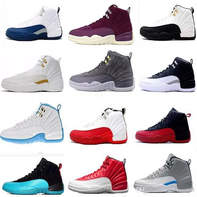 e1fd7f029228 WholeSale Men Basketball Shoes 12 12s Womens White Playoff French Blue Gym  Red The Master GS Barons Wolf Grey Flu Game Taxi Sneakers Online Shoes  Cheap ...