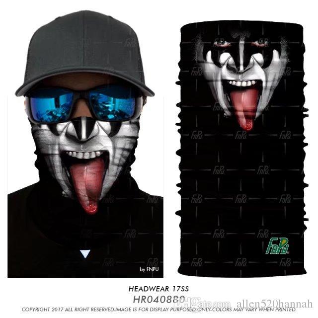 3D Seamless Bandana Halswärmer Tube Halbe Gesichtsmaske Halloween Stirnband Bandana Headwears Fahrrad Wandern Snowboard Kopftuch Balaclava Buffs
