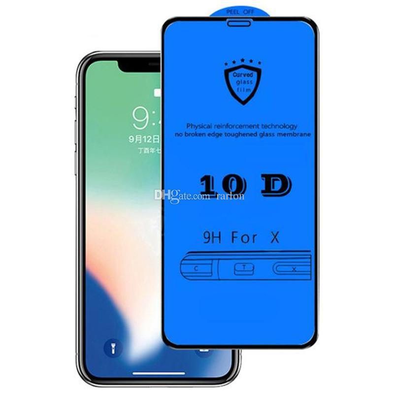 9D 10D Verre trempé Glue Adhésif Colle Screen Protecteur Film de protection pour iPhone 13 13Pro 12 11 Pro Max xr x 8 7 6 Plus