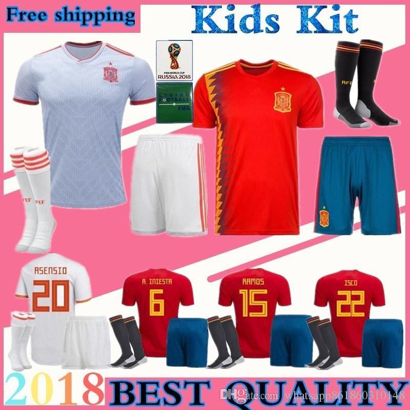 887171916eb Children Suite SPAIN España Football Uniform World Cup ISCO Home Red ...