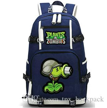 fafece5cacc4 Gatling Pea Backpack Plants Vs Zombies Day Pack PVZ Game School Bag ...