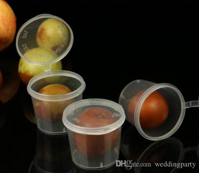 2000 stücke 25 ml 1 unze lebensmittelqualität PP gewürz tasse Einweg schmeckschale Salat sauce take-out lagerung tasse