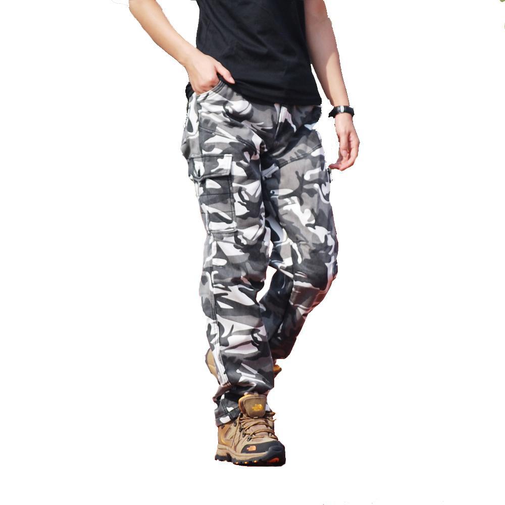 Tácticos Muchos Militares Otoño Camo Flojos Del Desgaste De Los Hombres Bolsillos Pantalones kXTZiwuOP
