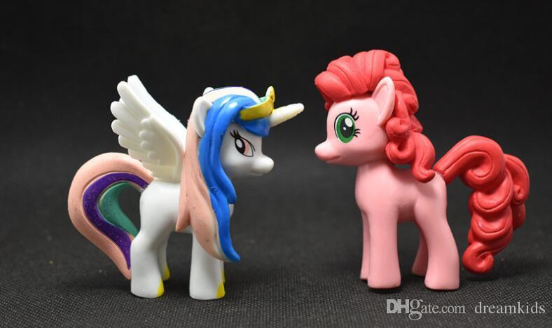 7 см фигурки для аниме Мой милый прекрасный маленькая лошадь Принцесса Celestia принцесса Луна мультфильм лошадь Единорог рисунок