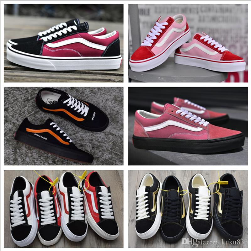 36af875647b 2018 New VANSES Old Skool Skate Shoes Style 36 Canvas Shoes SK8 HI Casual  Shoes For Sale Men Women Classic Outdoor Sneakers Red Shoes Footwear From  Kuku833