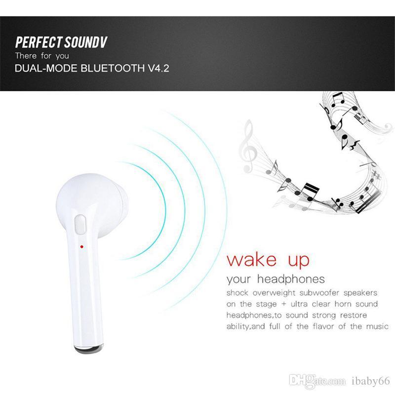 I7 Drahtloser Kopfhörer Bluetooth Headset In-Ear Invisible Earbud mit Mikrofon für iPhone 7 plus 7 6 6s 5 5s Samsung S8 Xiaomi Smartphone