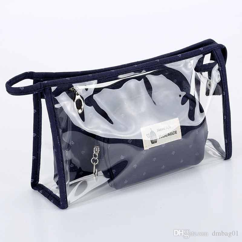 PVC Clear Transparentl makeup bag set cosmetic bag for travel makeup organizer and toiletry bag