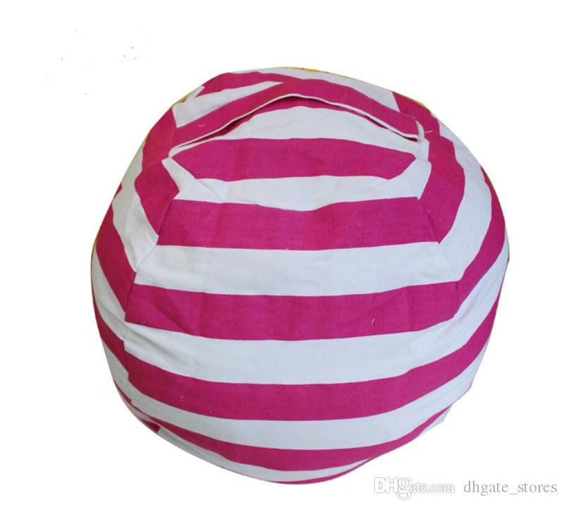 Kinder Speicher Bean Bas Leinwand Stofftiere Sitzsack faulen Stuhl Sofa gestreiften Kleidung Bettwäsche Plüschtiere Aufbewahrungsbox oragnize Taschen 22