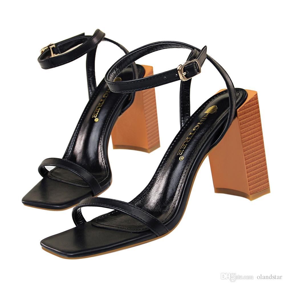f7d4f10932 Comodi Sandali Chunky Dress Shoes Donna Décolleté Tacchi aperti Décolleté  Tacco alto Festival Scarpe da sposa Formale Decoltè Sandali GWS481