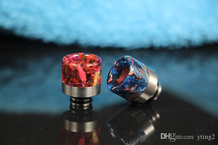 2018 Drip Tips Mouthpiece Replacement Epoxy resin night light 510 Drip tips 4 styles wide drip tips