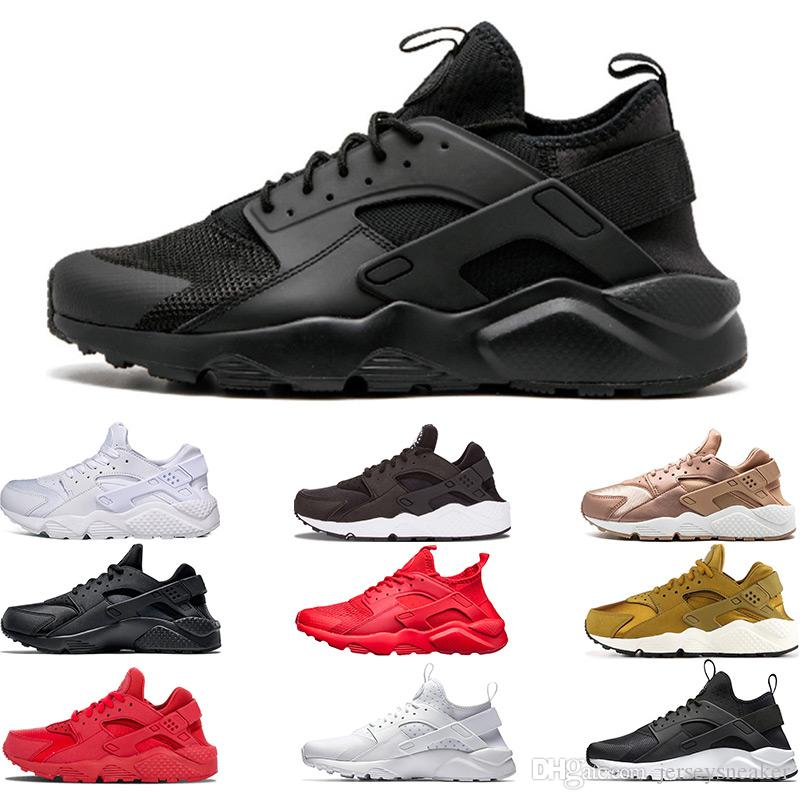 9112a28dd4a7d7 2019 Huarache 4.0 1.0 Classical Triple White Black Red Mens Womens Huarache  Shoes Huaraches Sports Sneaker Running Shoes Size Eur 36 45 Latest Shoes  Top ...