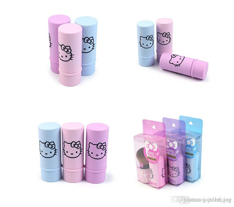 71c1ce1cc Hello Kitty Mini Makeup Brush Kit Retractable Make Up Brushes Pro Quality  KT Cosmetic Portable Travel Brush Powder Makeup Tool Beauty Makeup From  Jamilakang ...