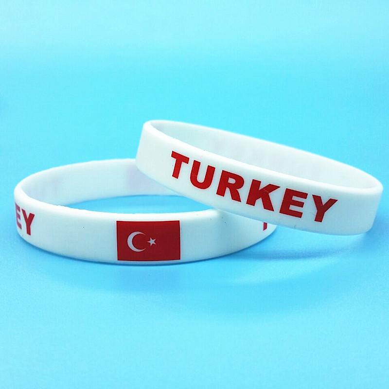 924789c59dbc Compre 2 Unids Bandera De Turquía Pulseras De Silicona Deporte Juego Power  Band Band Hombres Rubber ID Pulsera Brazalete Pulsera Souvenir 2018  Accesorios A ...