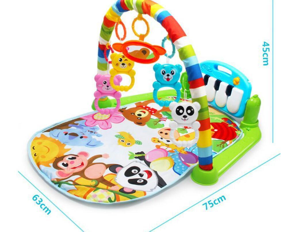 Infant music fitness rack 0 - 18 months old infant music pedal piano children's educational toys developmental playmats