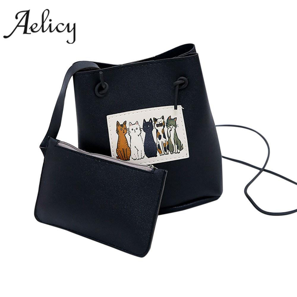 afd788cdd2 Aelicy High Quality New Design Cat Ladies Hand Bags Pu Leather Bag Female  Leather Our Brand Soft Crossbody Bags For Women Designer Handbags School  Bags From ...