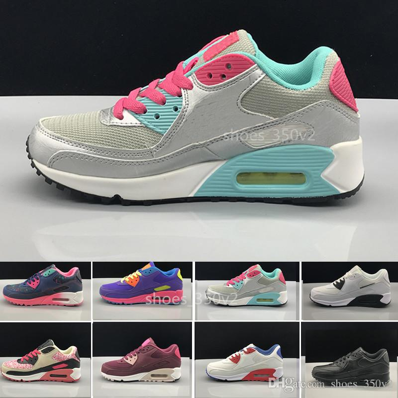 meet bc031 97bc4 Acheter Nike Air Max 90 Airmax Femmes Sneakers Casual Shoes Classic 90  Femmes Et Femme Chaussures Sport Trainer Air Coussin Surface Respirant  Chaussures De ...