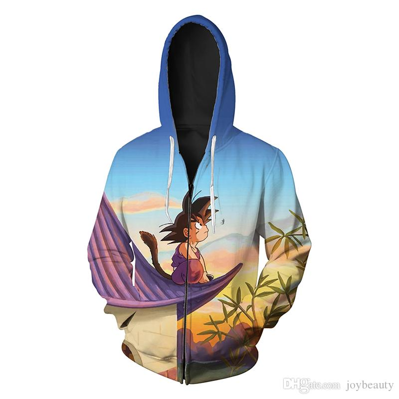 200a87945068 2019 Men Zipper Hoodie Cartoon 3D Full Printed Man Zip Hooded Sweatshirt  Unisex Casual Hoodies Long Sleeves Sweatshirts Graphic Tops RL077 From  Joybeauty