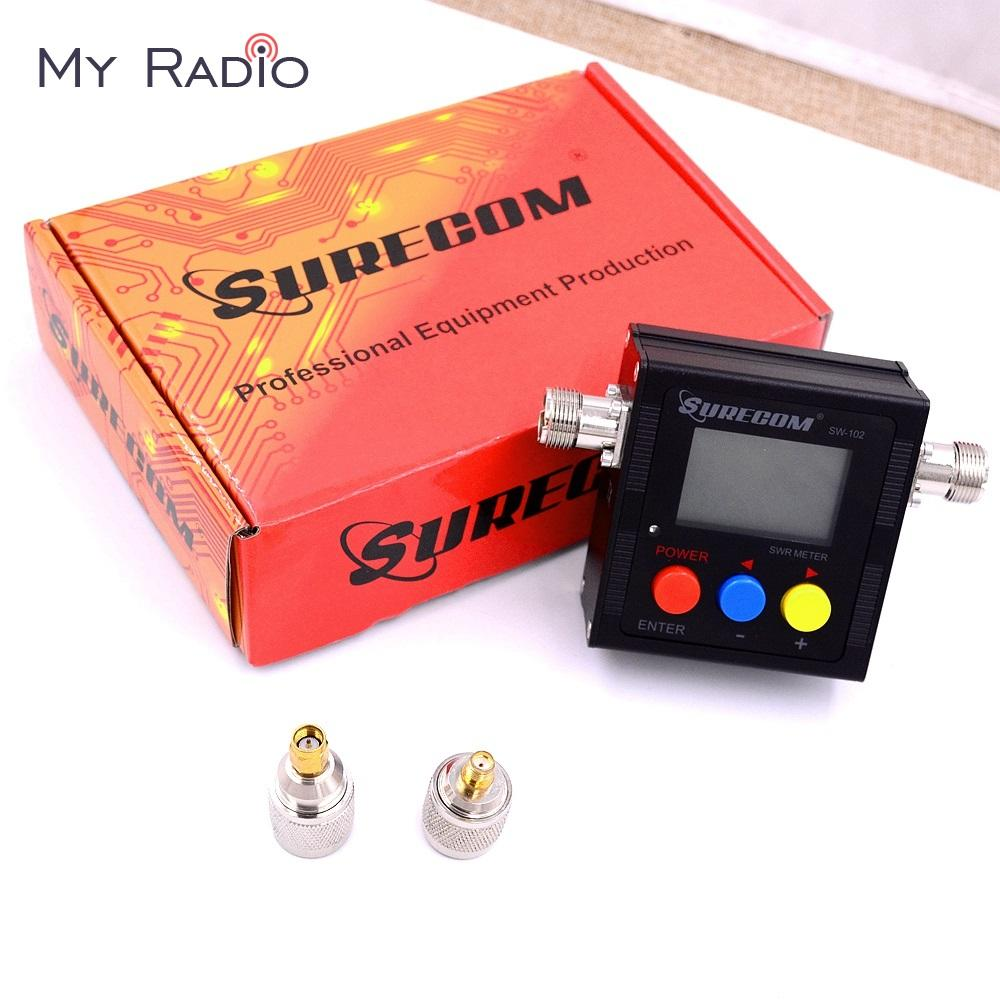 SURECOM SW-102 Digital Power & SWR & Frequency Counter for ham Radio  Scanner SO239 Connector 2 Connector adapter Tester Meter