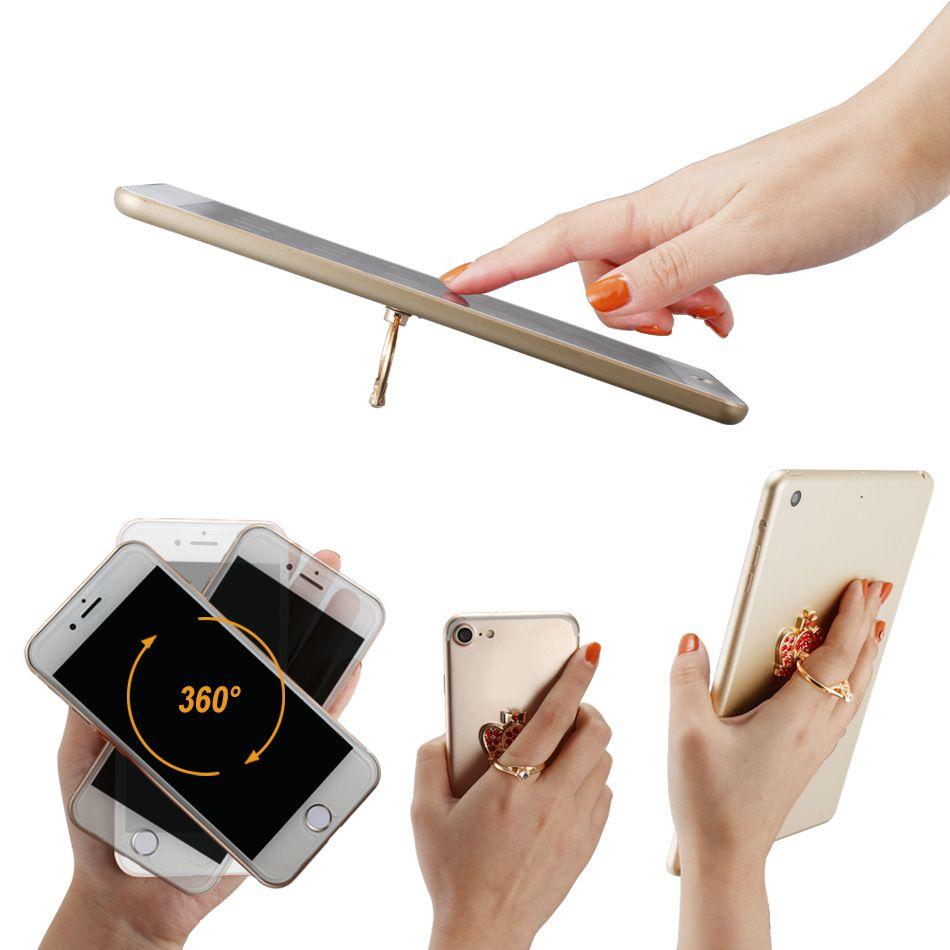 Supporto universale suoneria cellulari Bling Dimand Unique Buckles Supporto scrivania con supporto staffa anulare a rotazione a 360 gradi tutti gli smart phone