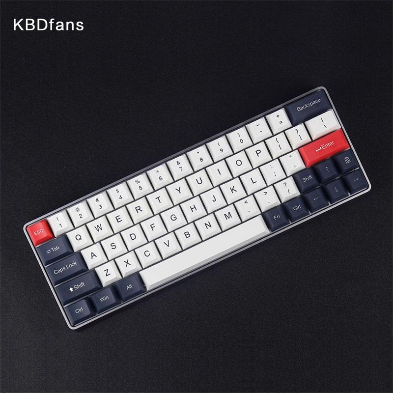 cherry profile keycap dye subbed thick pbt keycaps for gk64 mechanical  keyboard 2u left