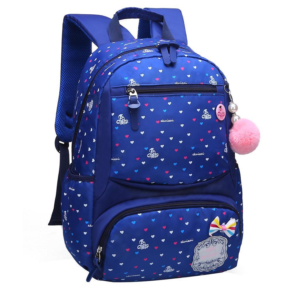 bb9fd4d3ab E KUIZAI Girls School Bags Kid Printing Backpack Fashion Children Backpacks  School Bag Girl Mochila Escolar Mochila Infantil Wheeled Backpack Small ...