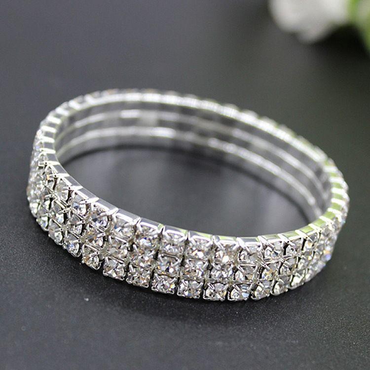 Bridal Jewelry Pearls Bracelets Bridal Wedding Accessories Silver