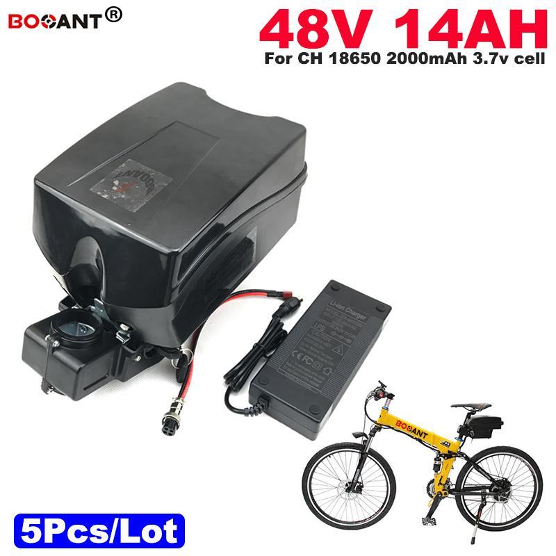 Wholesale 5pcs/Lot Electric car Lithium Battery 48V 14AH E-Bike Battery for  Bafang BBSHD 1200W Motor Free Taxes/Duty to EU US