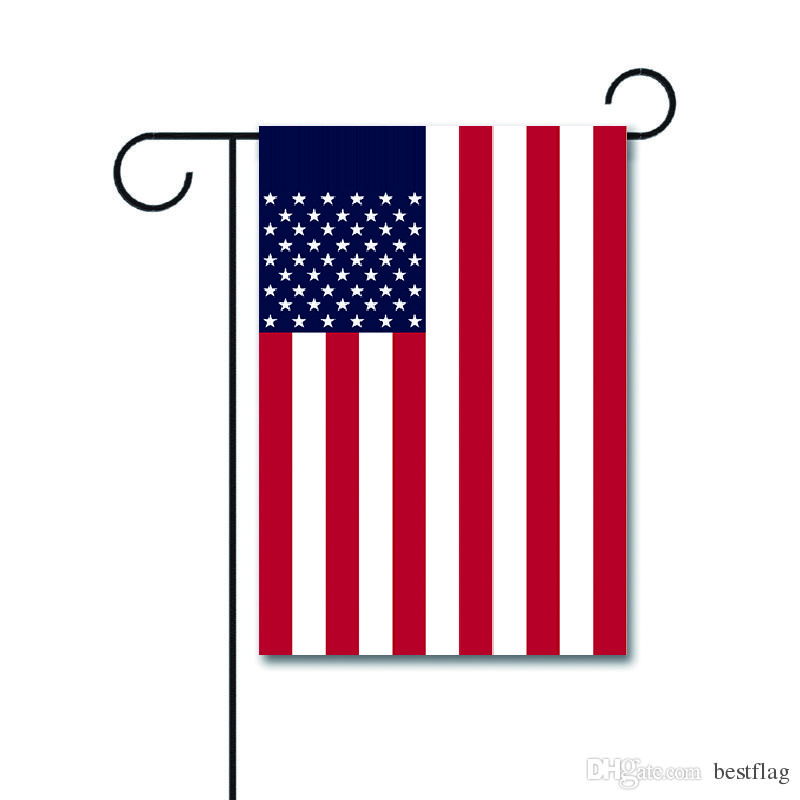 Wholesale Custom Logo Factory Price Decorative Outdoor 12x18inches knitted  polyester Double Side American Garden Flag with Dog Design