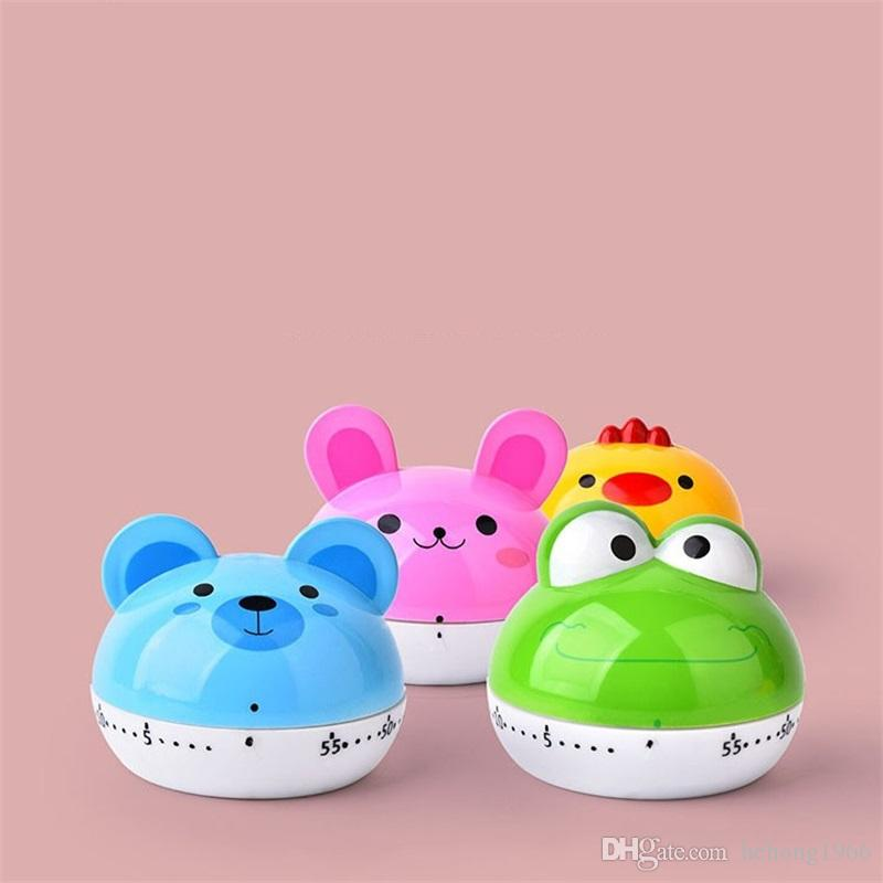 Multi Function Cartoon Animal Timer Portable Mechanics Reminding Device Lovely Kitchen PC Countdown Time Meter Designs Mix 5 21yy Y