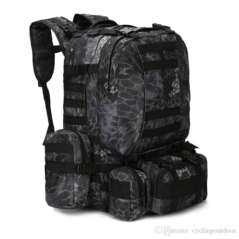 2019 MOLLE Tactical Backpacks Gear Waterproof 1000D Assault Outdoor Travel  Hiking Sport Amy Rucksacks Hunting Multi Function Bag Free Shopping From ... dd03bfd9d60b4