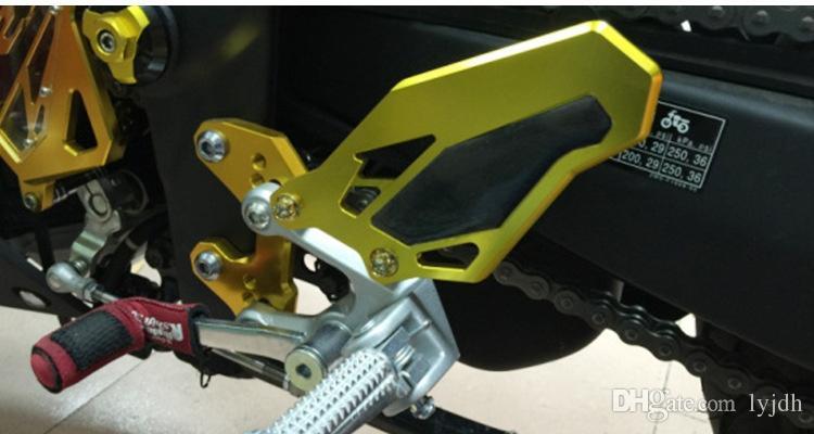 elevación de la motocicleta pedal placa decorativa para YAMAHA YZF-R3 YZF-R25 reposapiés del pedal
