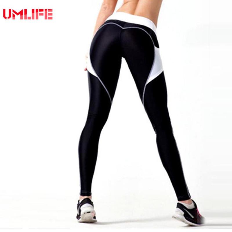 9f01a003c34855 2019 Yoga Pants Women Sport Leggings UMLIFE Sexy Hip Push Up Legging Heart  Fitness Sport Tights Jogging Femme Yoga Leggings Hot Sale From Onecherry,  ...