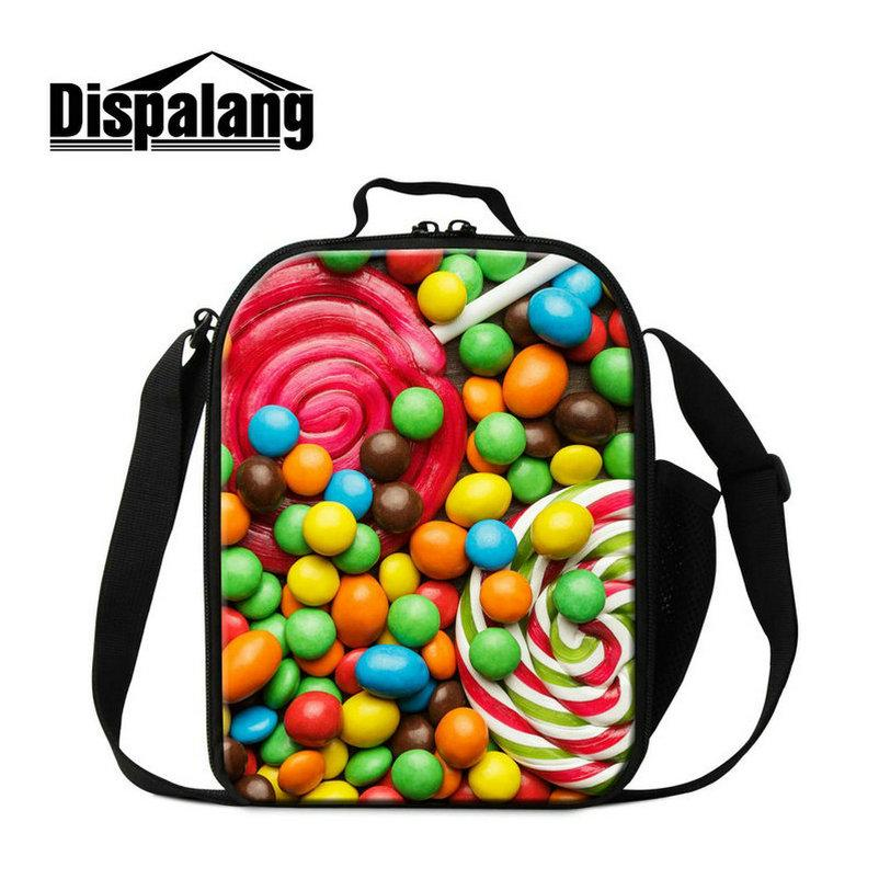 3bfb503fea 2019 Back To School Kindergarten Boys Lunch Box Preschool Girls Kid Lunch  Bags With Long Shoulder Stap Thermal Picnic Food Carry Tote 3D Print From  ...