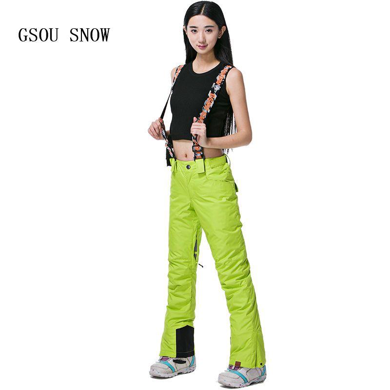 2019 Wholesale GSOU SNOW Women Ski Pants Professional Snowboard Pants 30  Degree Winter Snow Pants Waterproof 10K Breathable Female Skiing Wear From  Heheda5 e54416e5f