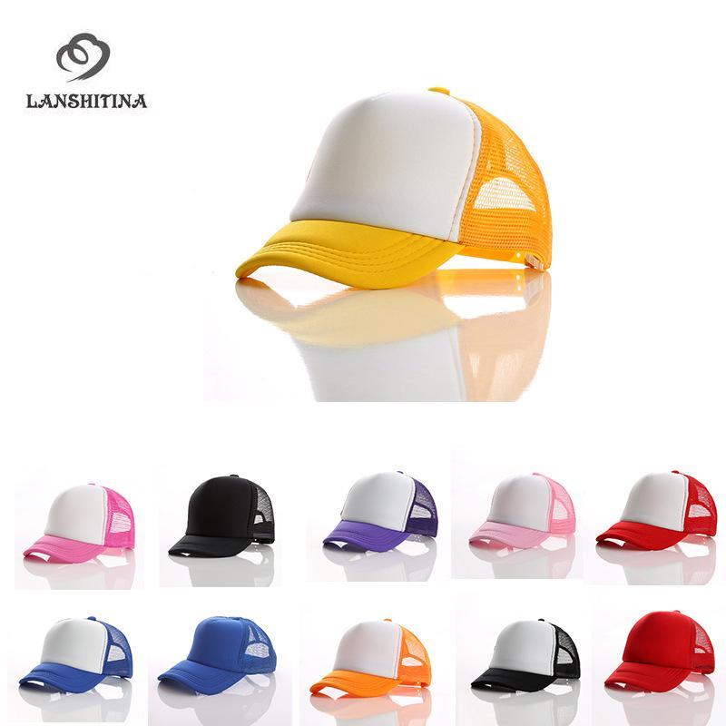 Children s Summer Mesh Baseball Cap Custom Printed Logo Beach Hat Travel  Sunhat For Boys Girls Child Adjustable GH 462 Customized Hats Custom Hat  From ... ed4ed5a51f46