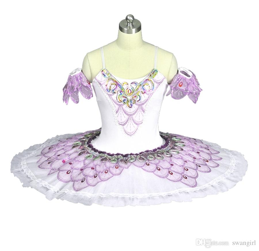 3ce83ad08 Adult White Purple Professional Tutu Pancake Classical Performance Stage Competition  Nutcracker Ballet Tutus Ballet Stage Costumes BT8922 Canada 2019 From ...
