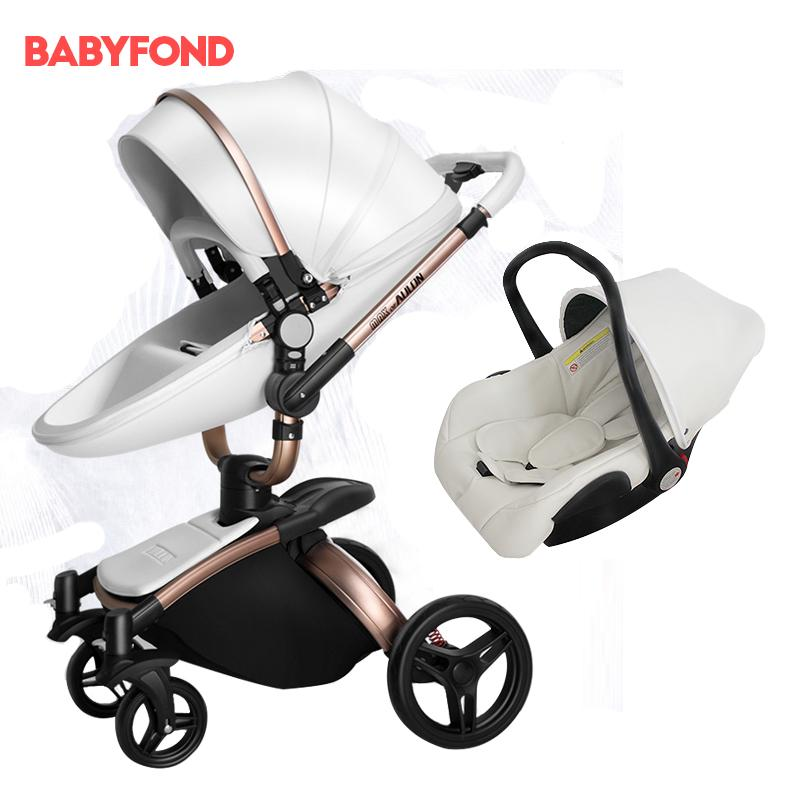 2019 Brand Baby Strollers With Car Seat Single Baby Carriage Newborn