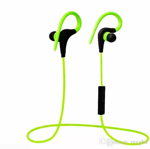2018 Bluetooth Headphones Sport Wireless Hook Stereo Music Player Neckband Earphones Jogging Headphones For Iphone 7 With Retail Box