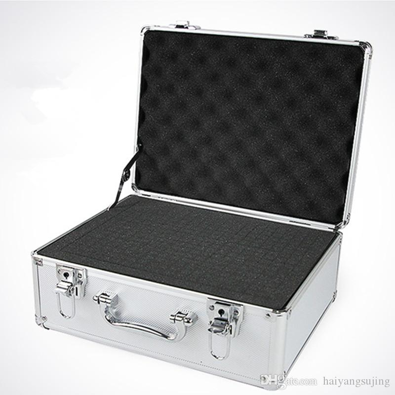 Aluminum ABS Travel Bag Tool Case Suitcase Toolbox File Box Impact  Resistant Safety Equipment Camera With Pre Cut Foam Lining Briefcase  Leisure Bag Storage ...