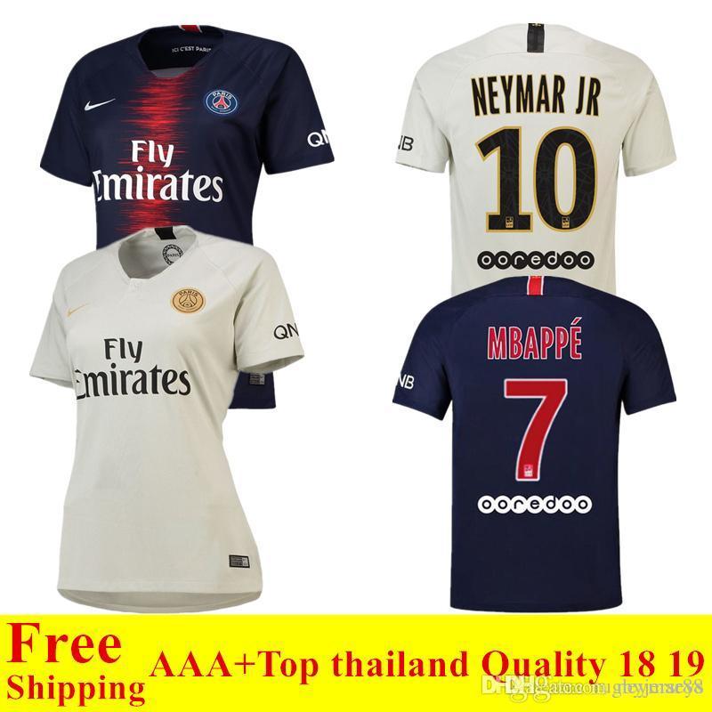 2018 2019 New Psg Jersey 18 19 Paris Home Away Soccer Jersey CAVANI ... 51795fd0e