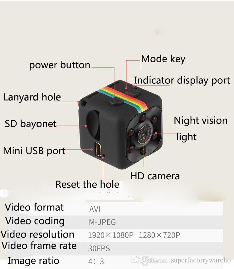 Nouveau Mini Caméra HD 1080 P Vision Nocturne Caméscope Voiture DVR Enregistreur Vidéo Infrarouge Sport Appareil Photo Numérique Support TF Carte DV Caméra