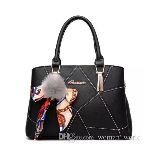 New 2018 Sweet Lady Scarves Handbags Designers Fashion White Shoulder Bag  High Quality PU Leather Totes For Female Messenger Bag Overnight Bags Bags  For ... 4ce929a7b2d8e