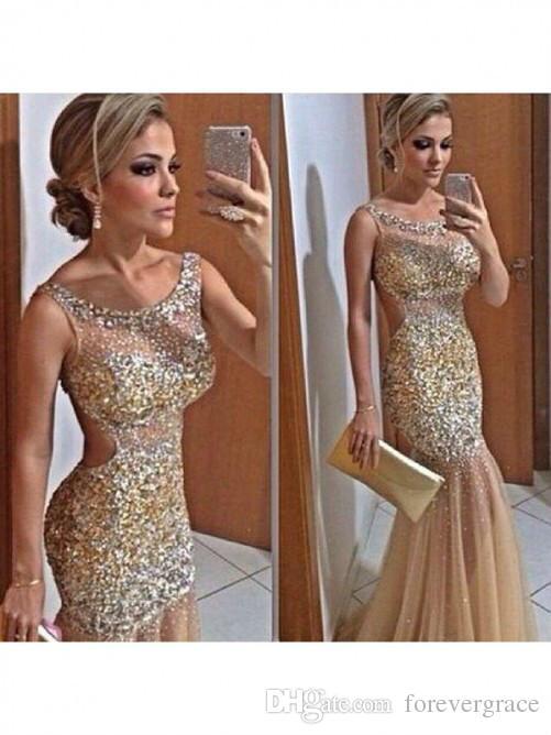 Charming Gold Fashion Long Evening Dress Trumpet Mermaid Straps Sleeveless  Sequin Floor Length Net Prom Dress Turquoise Evening Dress Velvet Evening  Dress ... 3d31e9eca1f7