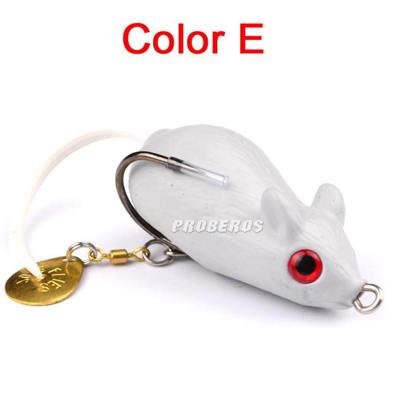 3D Eyes Likelife Mouse Spinner baits Artificial Bait 5cm 9g Soft Silicone Rubber Blackfish Catfish Bass fishing lure